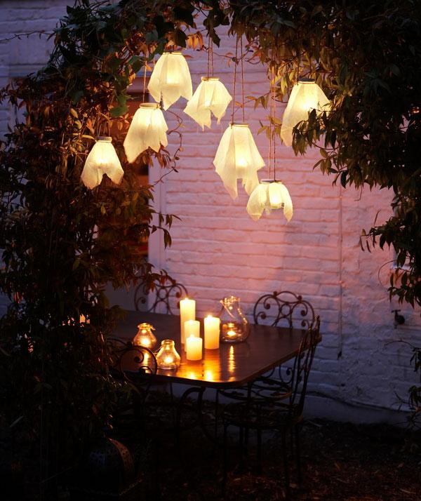 DIY Hanging Firefly Glass Lanterns.