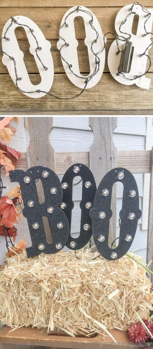DIY Boo Letters.