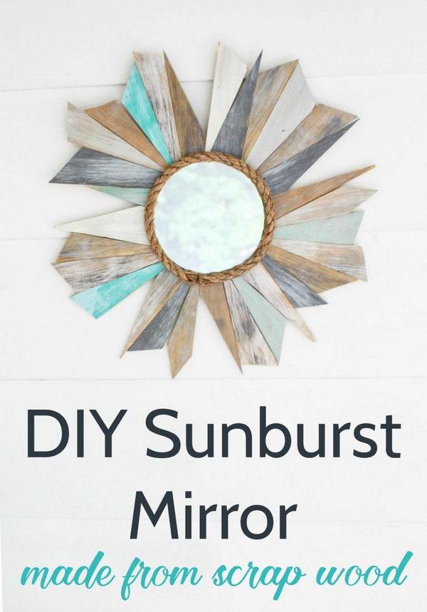 DIY Nautical Mirror from Scrap Wood.