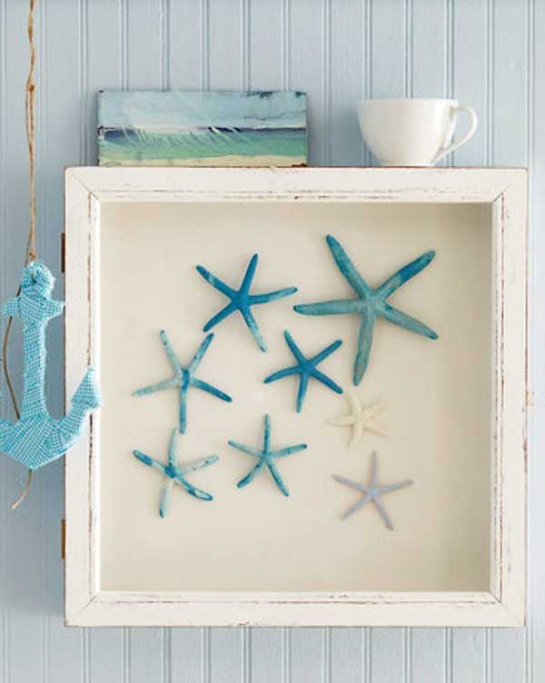 Home Decoration Diy Ideas Part - 46: DIY Starfish Shadow Box