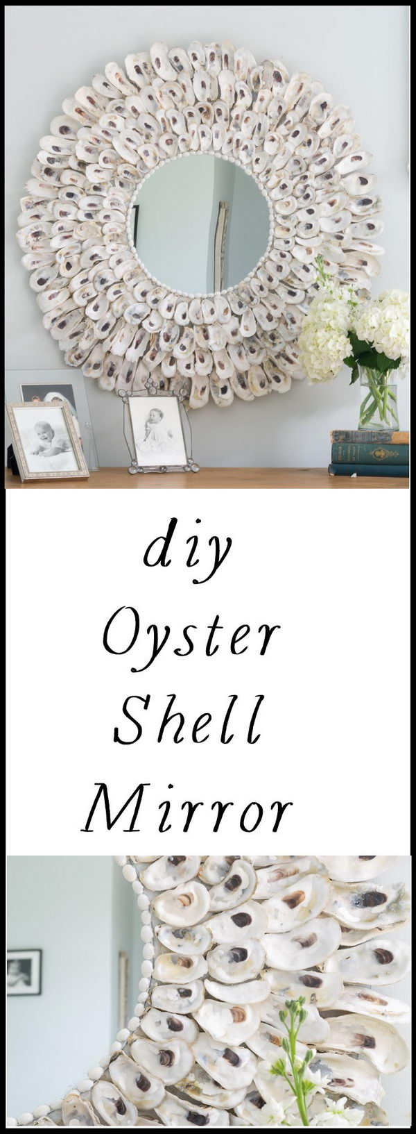 DIY Seashell Mirror.