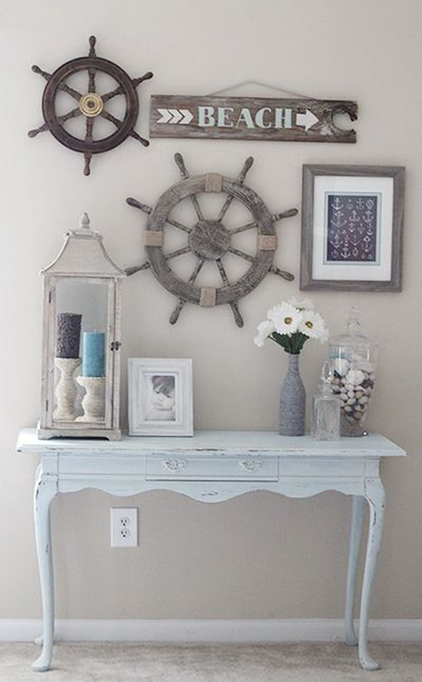 rustic beach themed kitchen decor | 60+ Nautical Decor DIY Ideas To Spruce Up Your Home - Hative