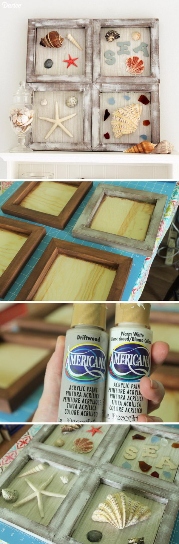 DIY Nautical Decor Shadowbox.