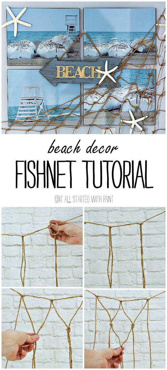 DIY Decorative Fishnet.