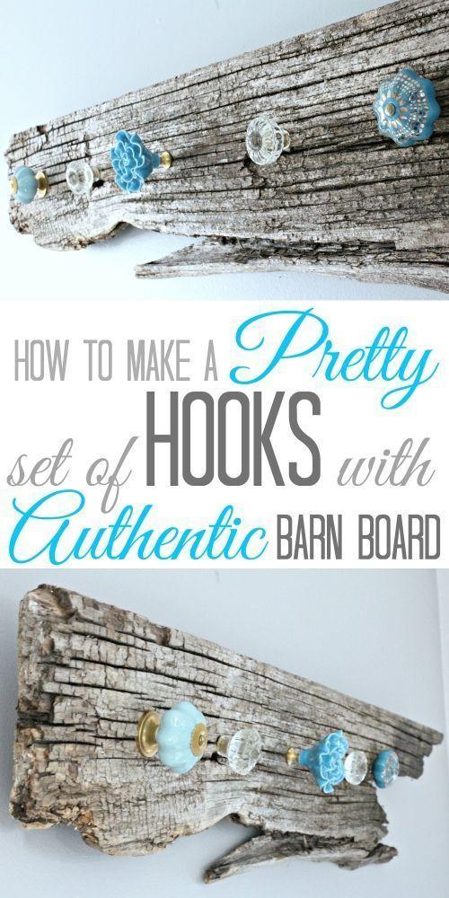 DIY Barn Wood Necklace Holder.