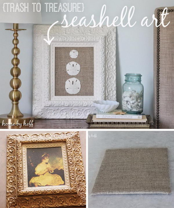 DIY Seashell Art.