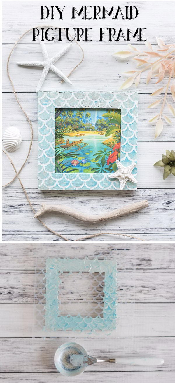 DIY Mermaid Scale Frame.