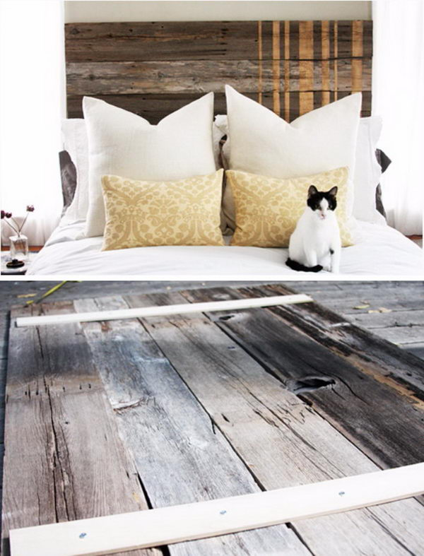 Rustic Wood Headboard Diy Ideas Hative