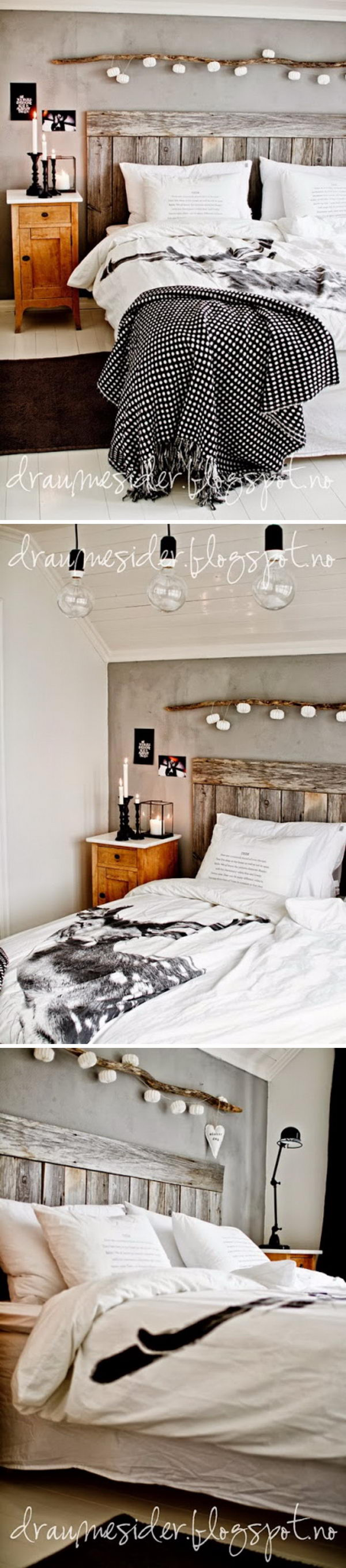 30 Rustic Wood Headboard DIY Ideas