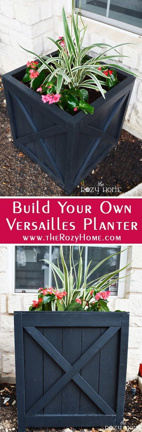 DIY Versailles Planter Box.