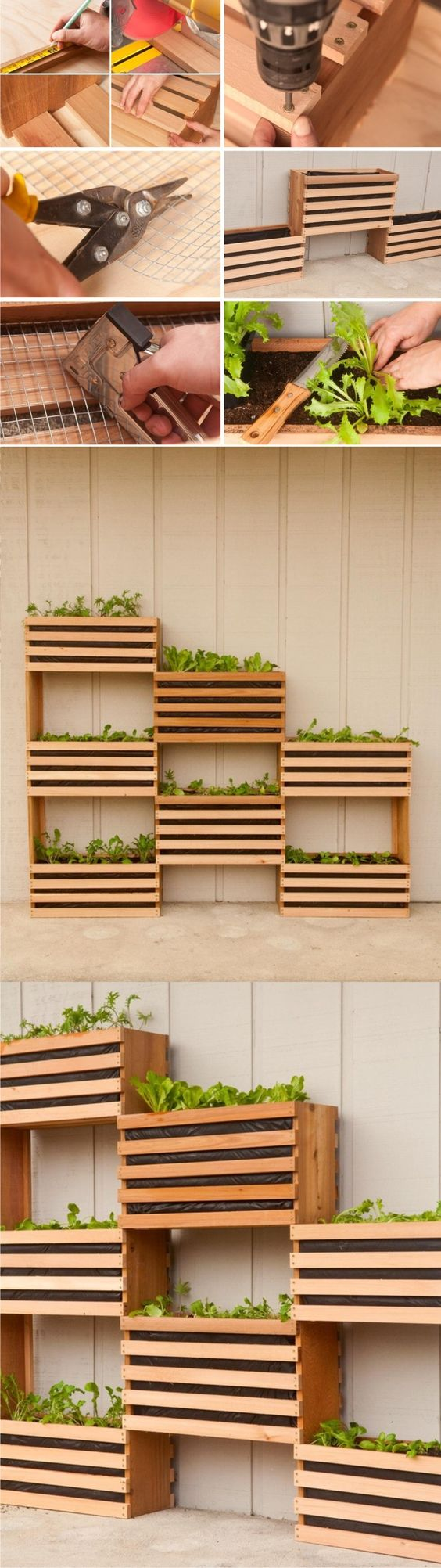 Vertical Stacking Planters.