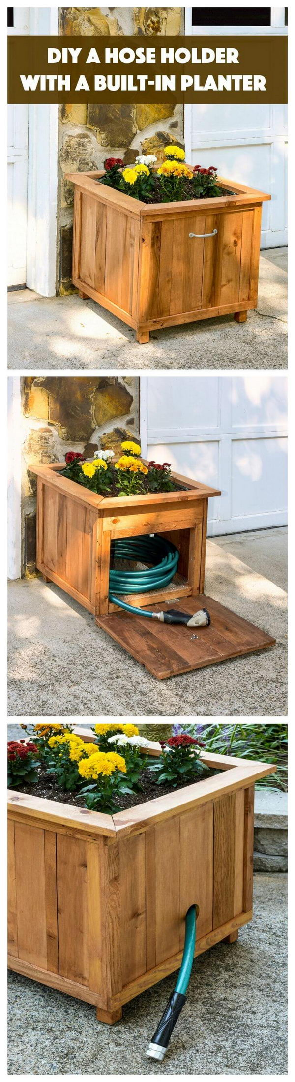 DIY Planter Box & Hose Holder.