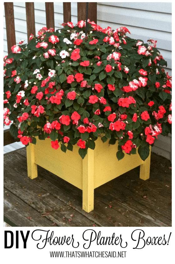 DIY Planter Boxes.