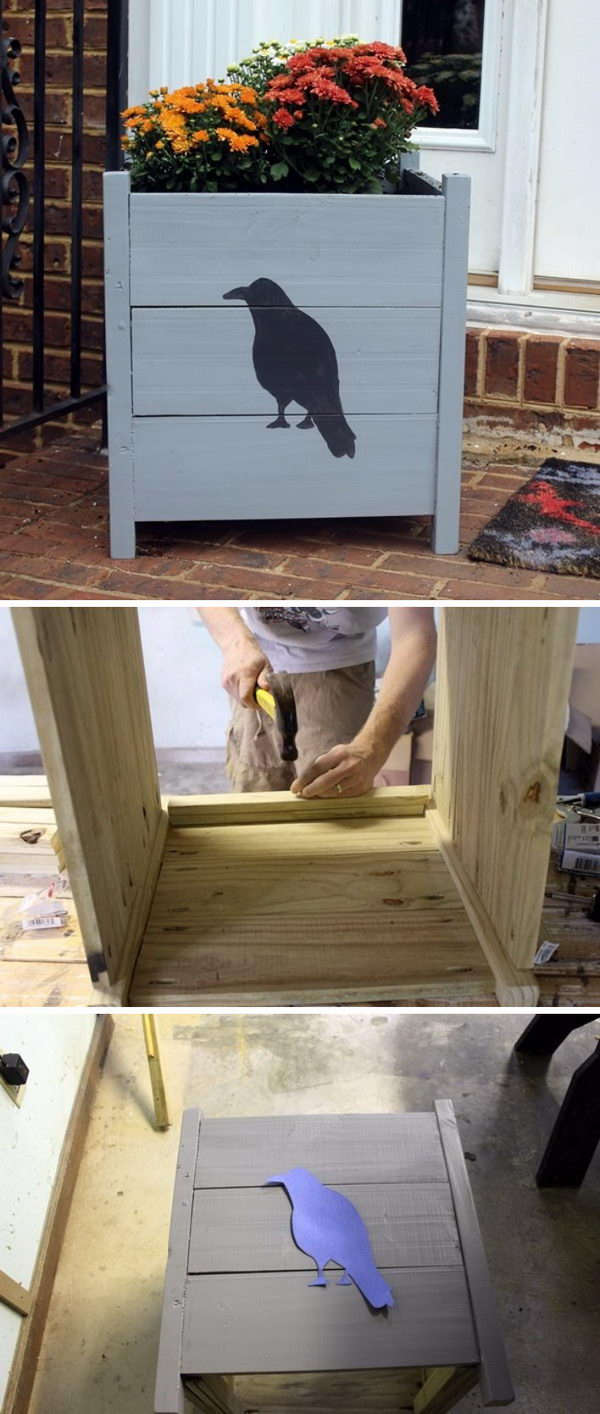 DIY Raven Planter Box.