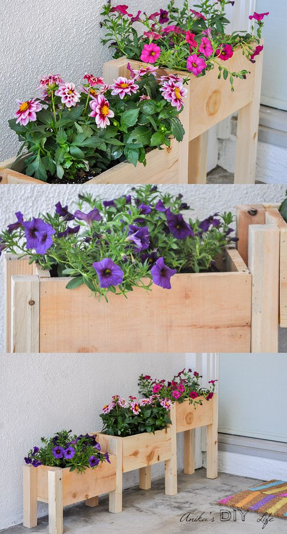 30+ Creative DIY Wood and Pallet Planter Boxes To Style Up ...