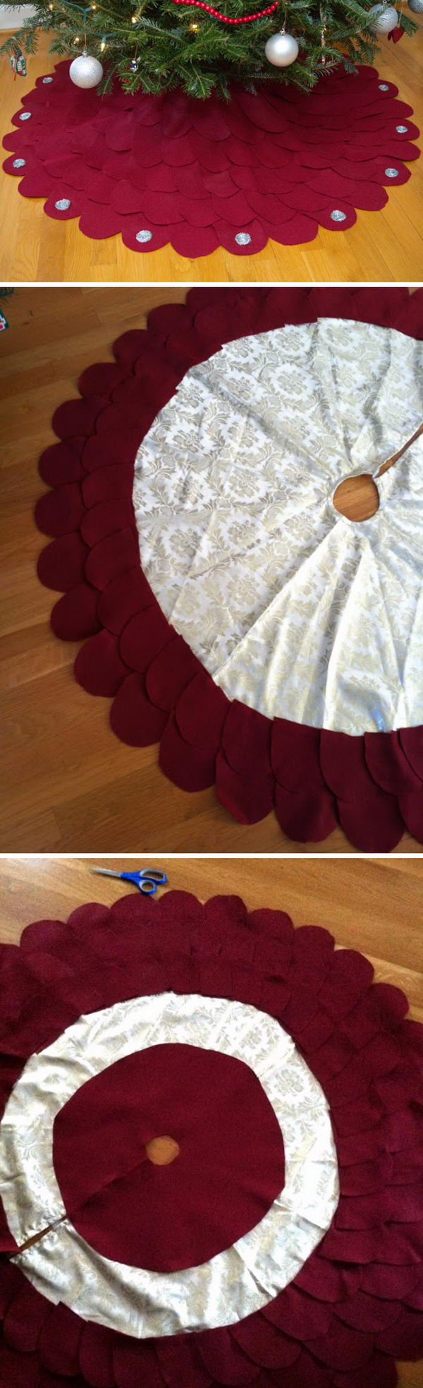 DIY Christmas Tree Skirt.