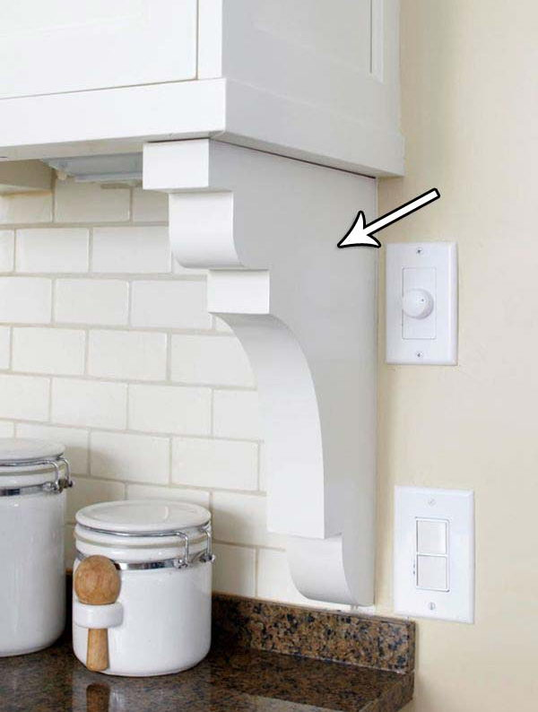 Add Corbel Under Your Cabinets To Give Your Backsplash A More Finished Look.