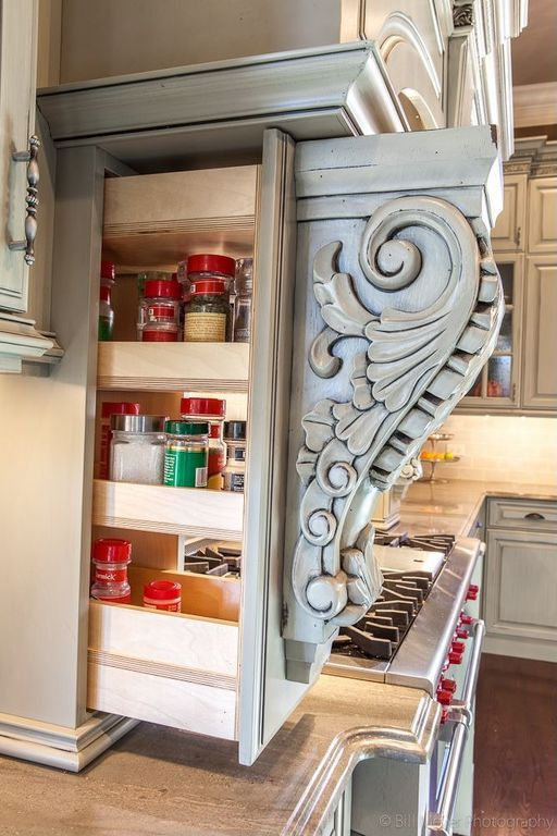 Hidden Storage Using Corbels.