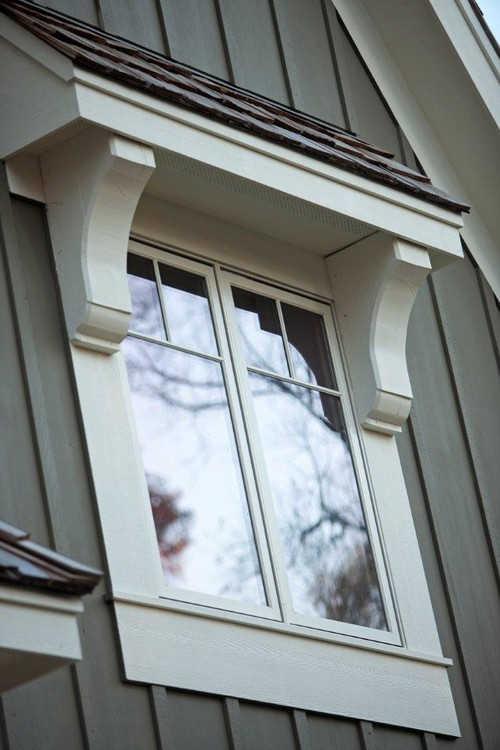 Add Exterior Window Corbels For Custom Feel.
