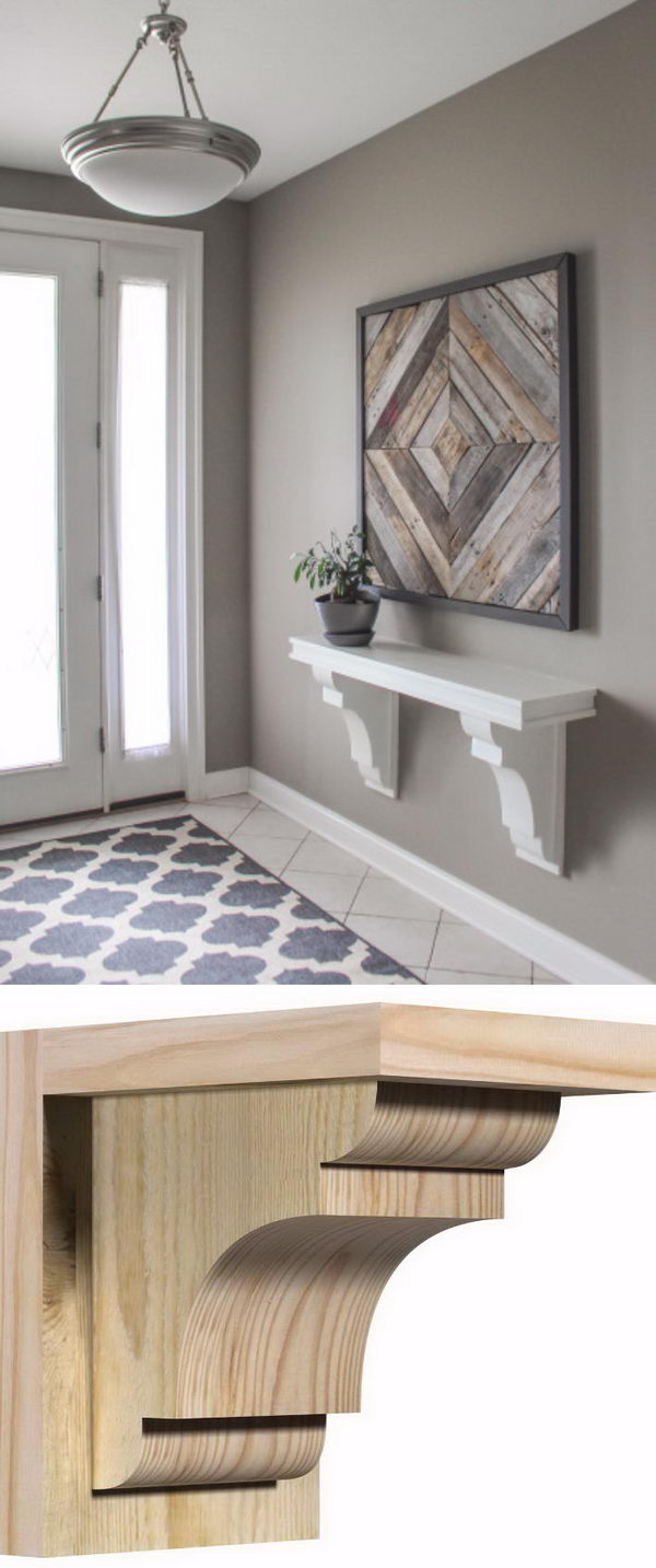 DIY Corbel Entryway Table.