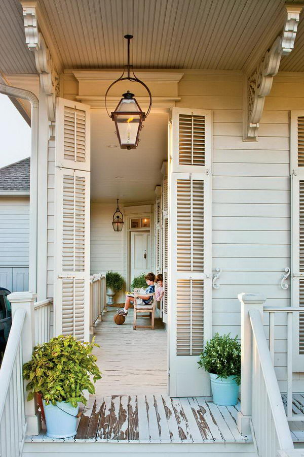 Vintage Corbels Lend A Historic Feel To The Exterior.