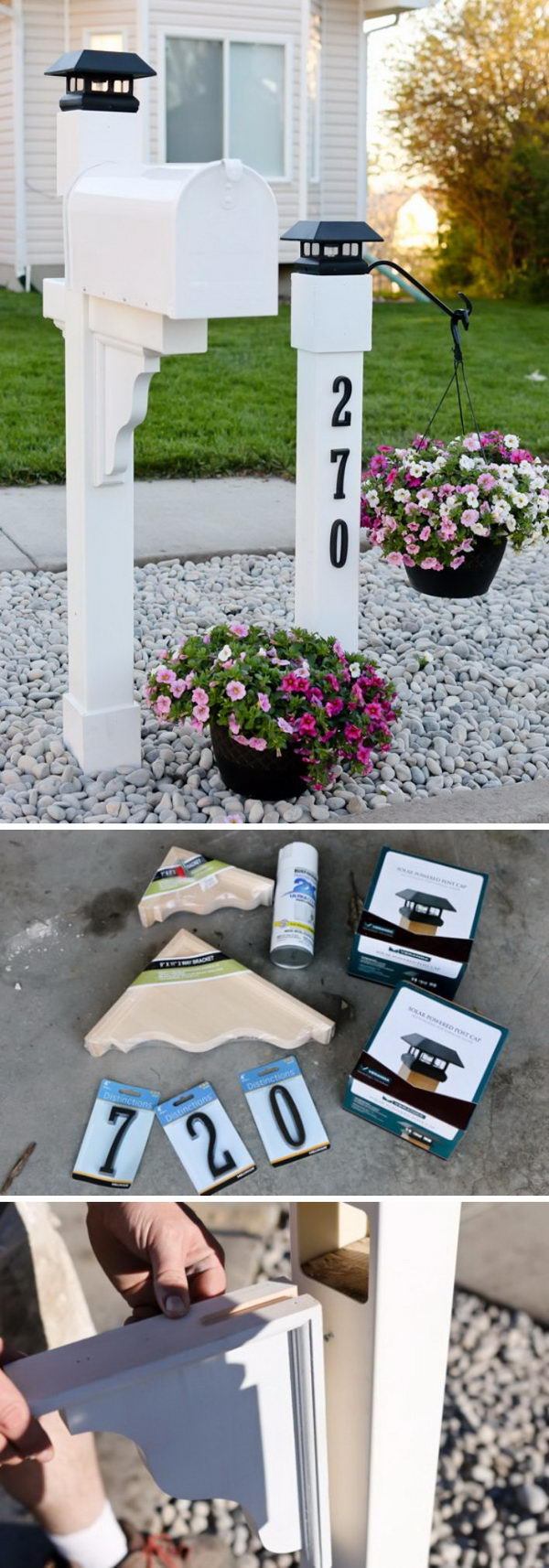 Make A Beautiful Mailbox For Curb Appeal Using Corbels.