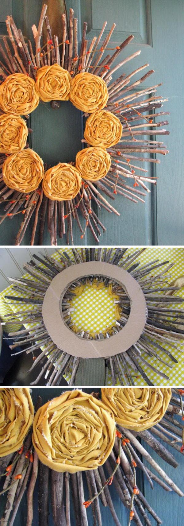 Twig Sunshine Wreaths.