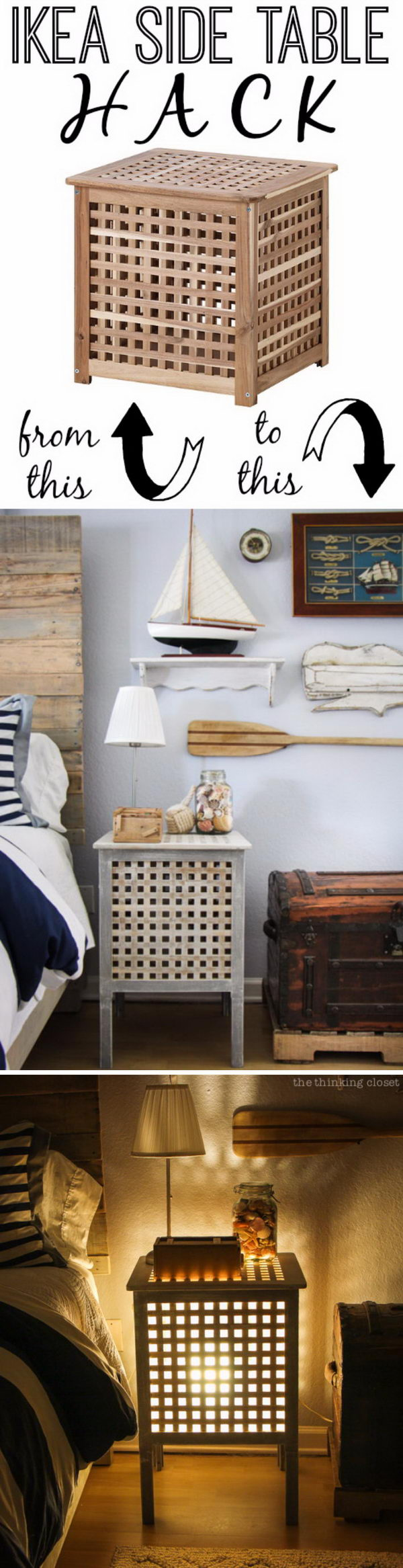 IKEA Table Hack  Nautical End Table.
