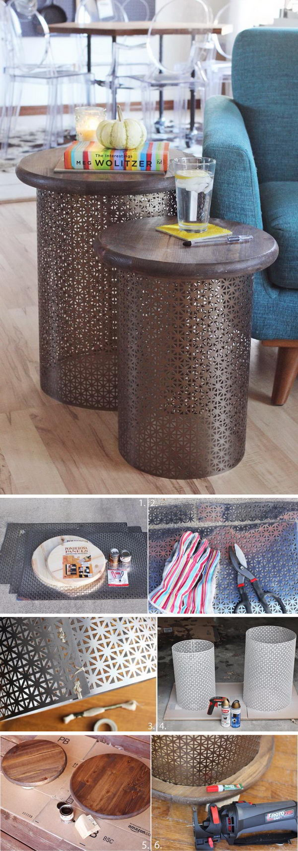 DIY Brass Side Tables.