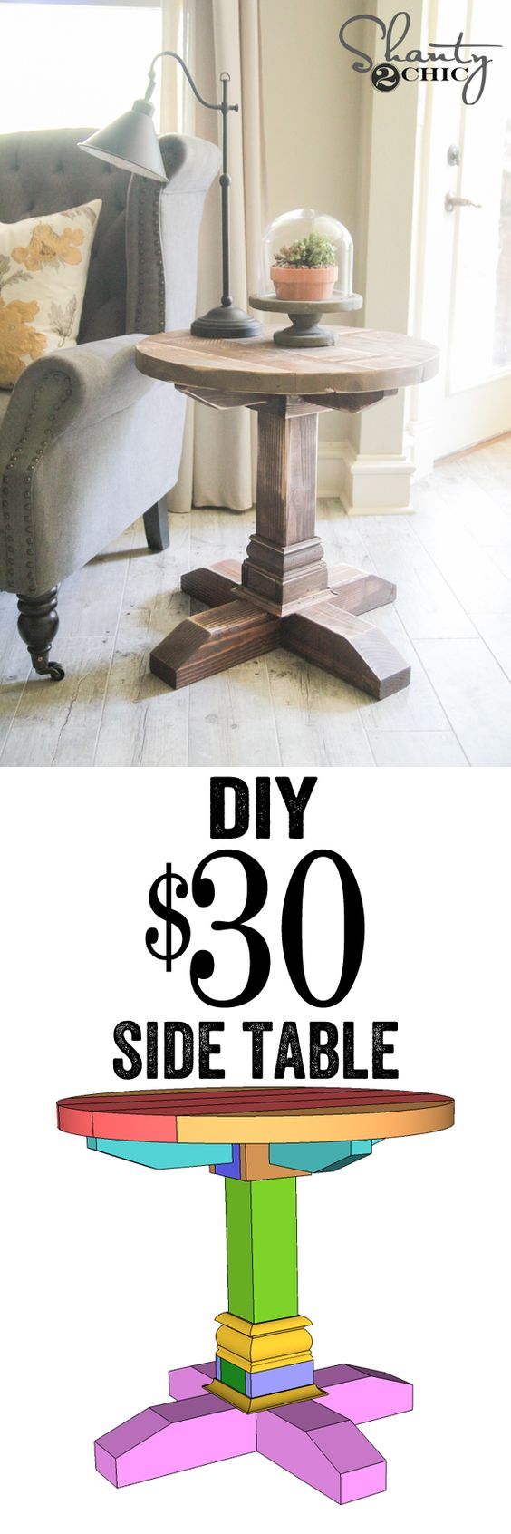 DIY Side Table.