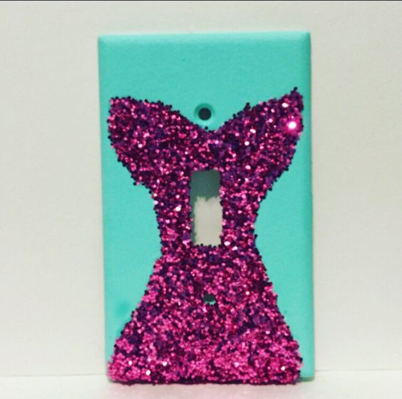 Mermaid Tail Glitter Standard Light Switch Plate.