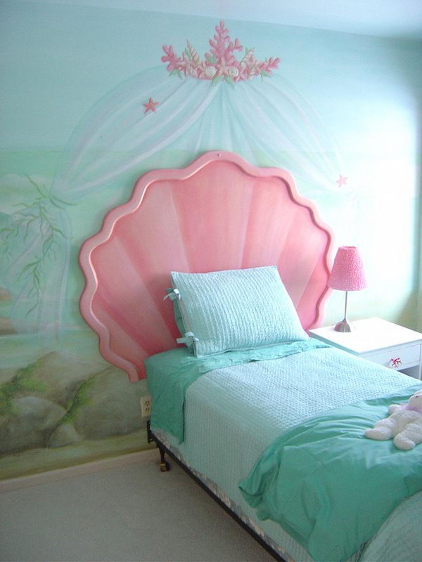 Cute Mermaid Shell Headboard.