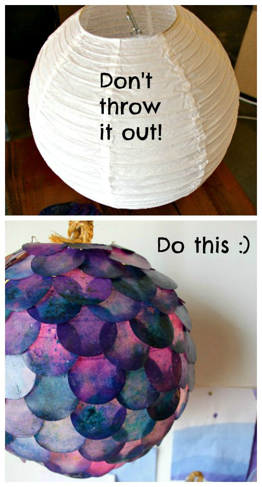 DIY Fish Scale Pendant Lamp.