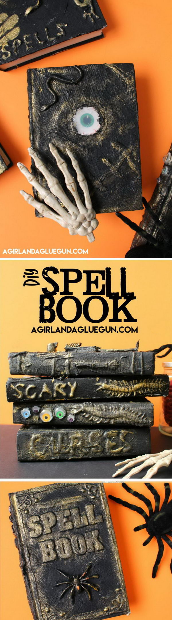 DIY Potion Spell Book For Halloween.