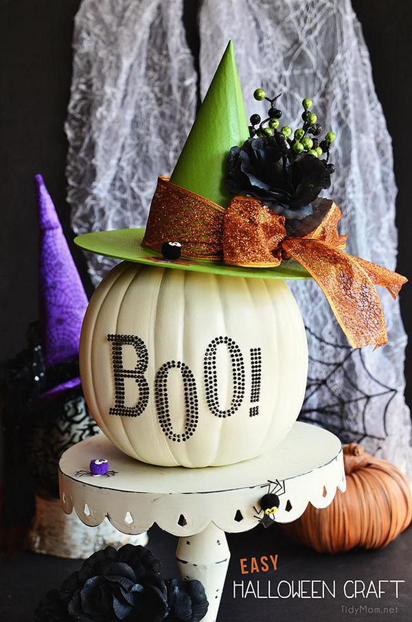 DIY Witch Pumpkin.