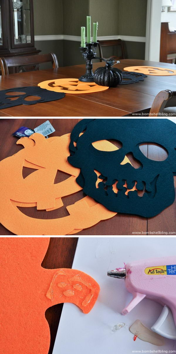 DIY Halloween Table Runner.