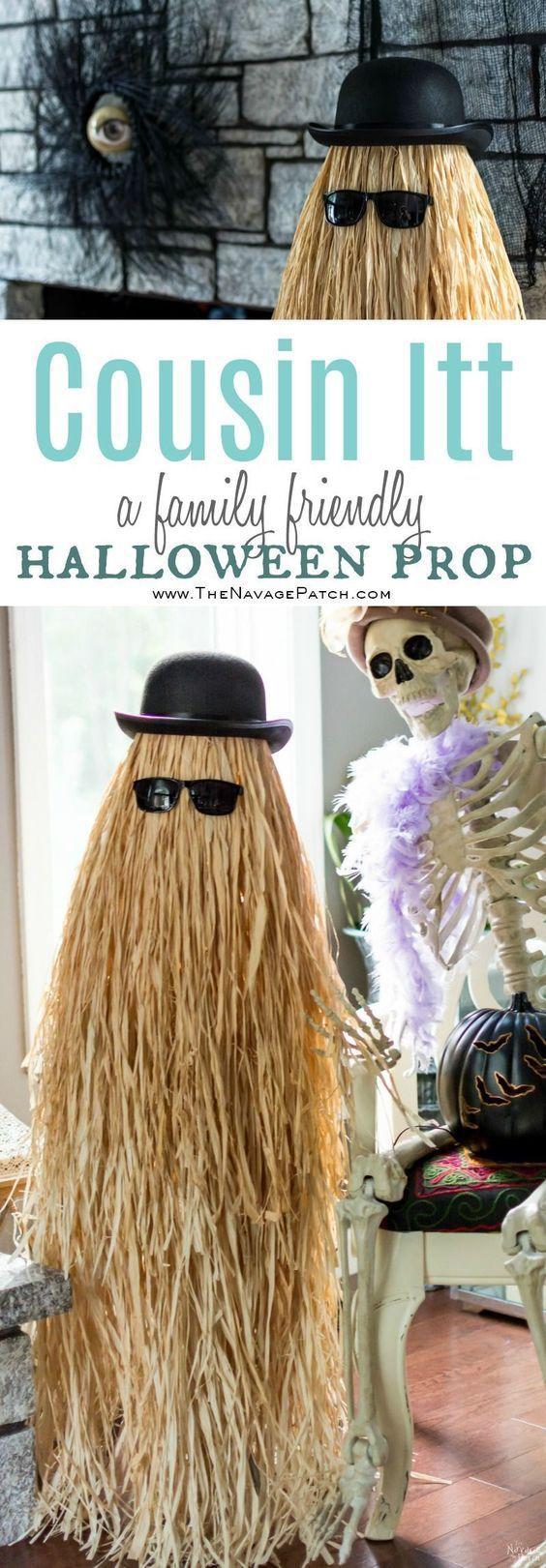 Cousin Itt Halloween Prop.