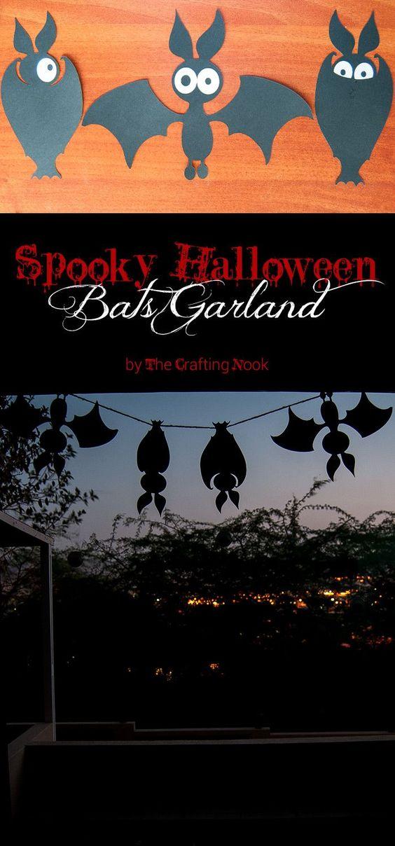 DIY Halloween Bats Garland.