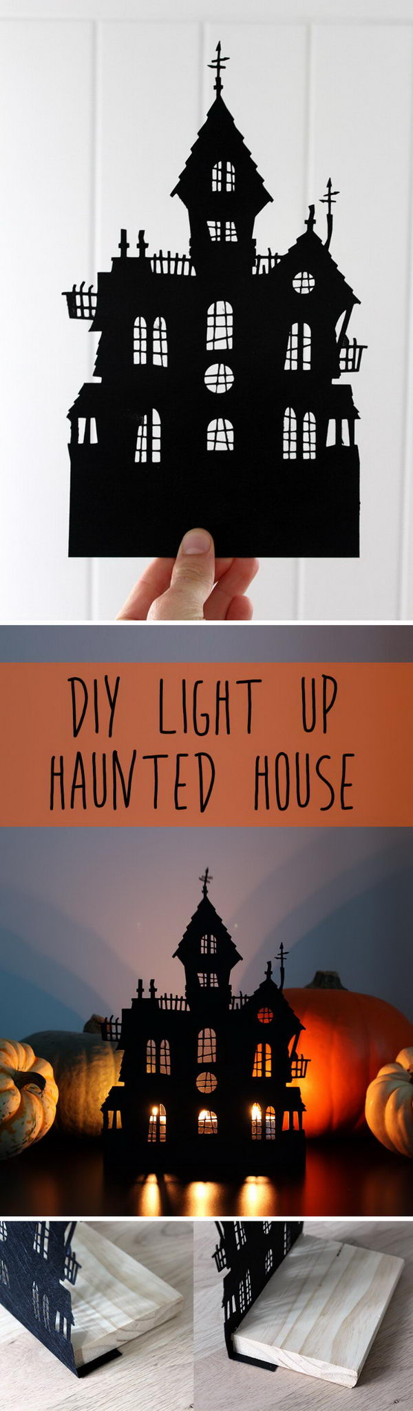 Light Up DIY Haunted House Decoration.