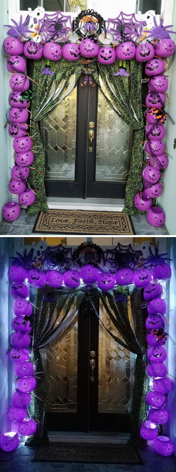 Awesome Plastic Pumpkin Arch Entry Way.
