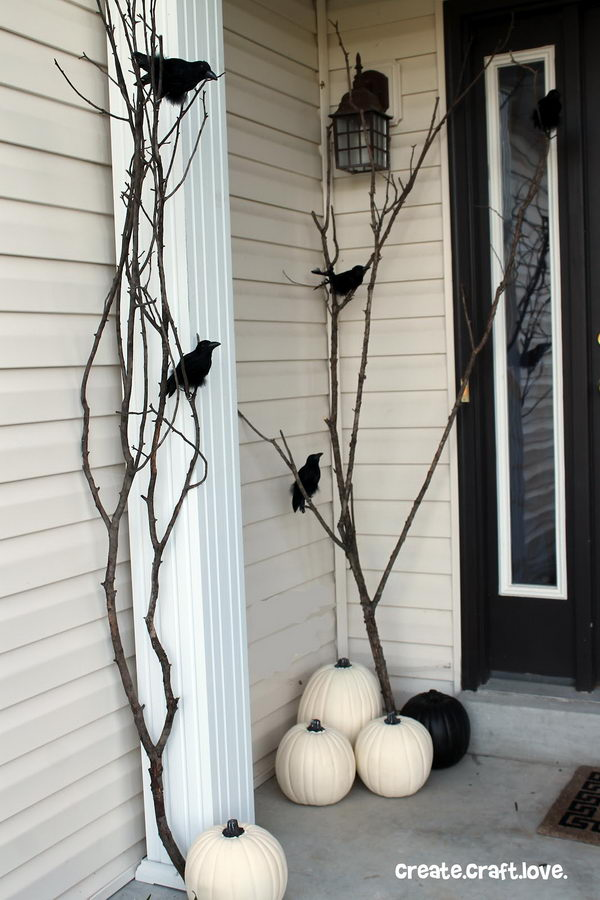Raven Inspired Halloween Porch.