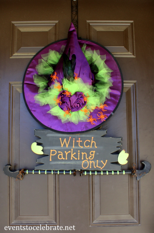 halloween witch door decorating ideas witch hat halloween witch hat wreath 50 front porch decorations hative