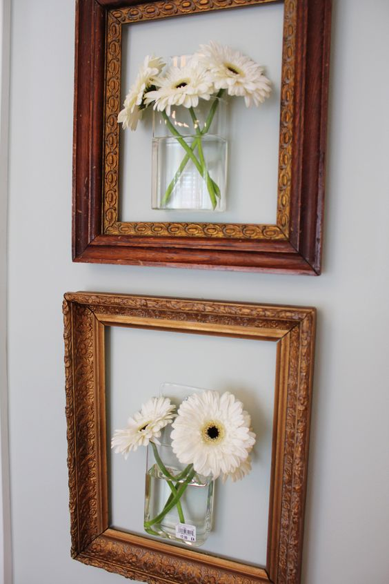 DIY Artwork Using Picture Frames.