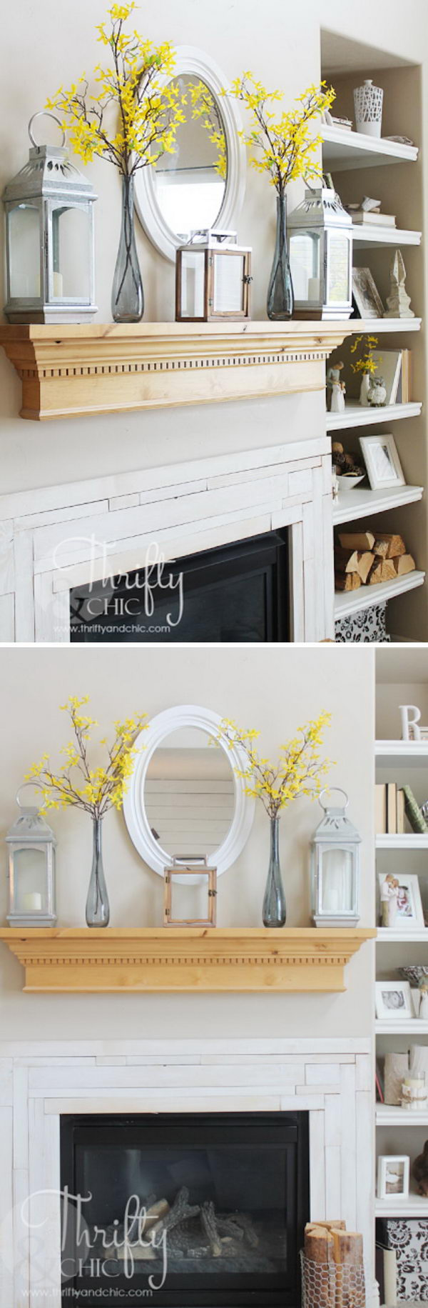 Upgrade A Wall With This Easy DIY Wood Mantel.