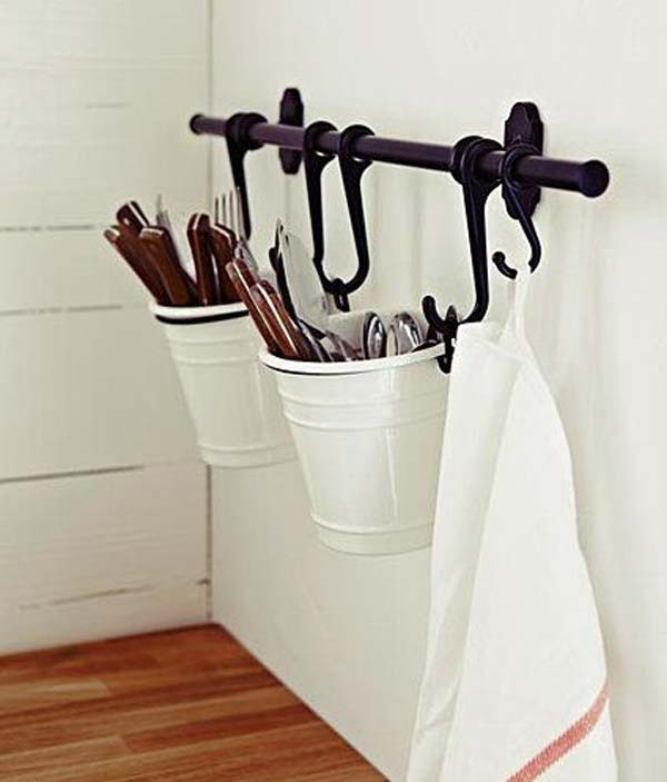 IKEA's Fintorp Basket Utensil Storage.