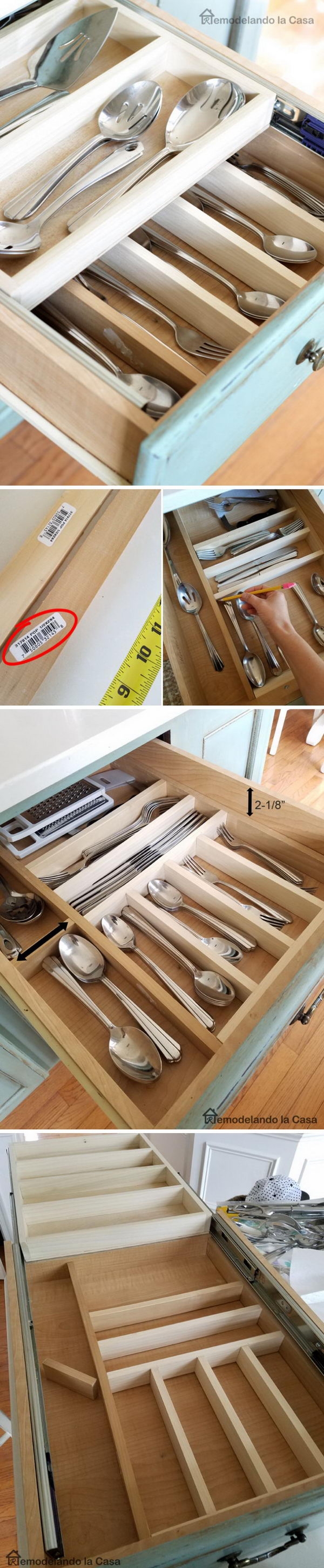 Double Layer Drawer Organization.