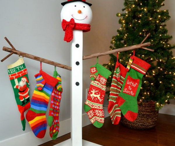 Diy stocking holders for christmas decoration hative