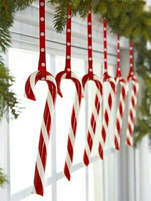 Hang Candy Canes On Your Windows.