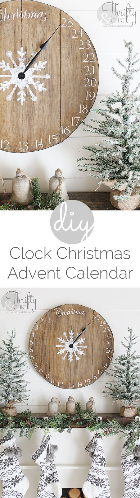 DIY Wood Clock Christmas Advent Calendar.