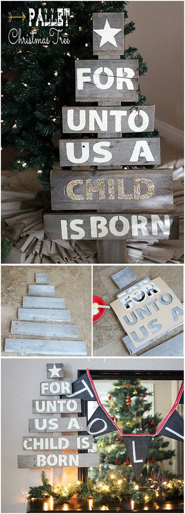 Easy Upcycled Pallet Christmas Tree.